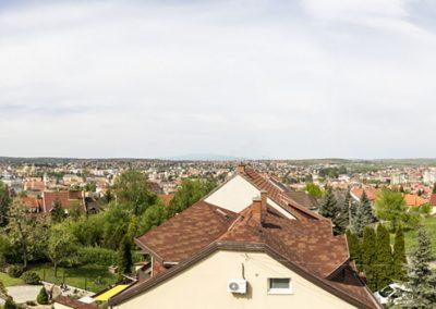 Egri panoráma a Standard tetőtéri apartmanból