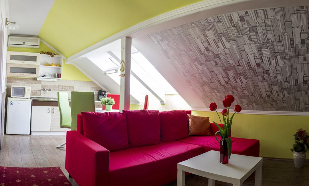Tetőtéri apartman Eger