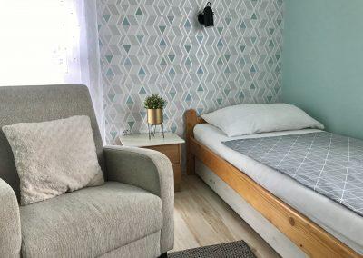 Panorámás, 2 hálószobás apartman, hálószoba